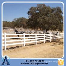 Hochwertige 2 Schienen, 3 Schienen und 4 Schienen weiss PVC Pferd Zaun, Ranch Zaun, weißer Vinyl Bauernhof Zaun