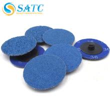 Automatic blue Zirconia Alumina quick change disc of ISO9001 Standard