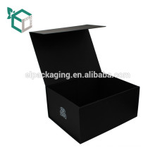 Factory Price Dye-throug Black Soft Touch Collapsible Magnetic Gift Box