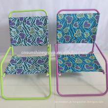 Aço baixa praia cadeira gramado cadeira lazer cadeira dobrável