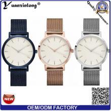 Yxl-109 Promotion Mesh Stahlband Uhr Vogue Luxus Herrenuhr Heißer Verkauf Quarz Edelstahl Armbanduhr Custom Design Uhren