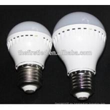 E27 e14 5w led lámpara de luz de bulbo de plástico