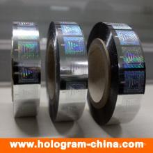 Estampagem a quente com holograma para ambos os papéis