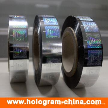 Hologram Hot Foil Stamping pour les deux papiers