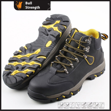 Sport Style Genuine Leather Safety Shoe with EVA/Rubber Outsole (SN5218)