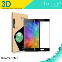 Newest!3D curved full coverage tempered glass screen protector for Xiaomi Note2