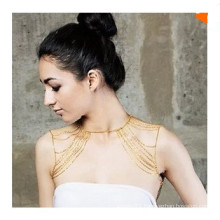 Fashion golden color shoulder chains body jewelry for women
