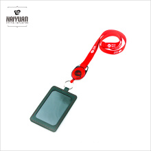 Hot Selling Leather Card Holder Lanyard with Novelty Badge Reel