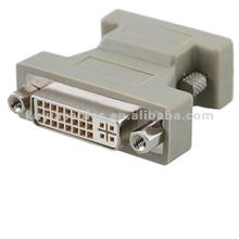 VGA A DVI ADAPTADOR DE CONECTOR DE 24 PINES DVI-I HEMBRA A HEMBRA HD15PIN Para conexión a PC con DVD TV LCD.