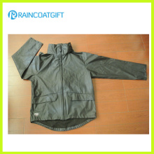 Rvc-172 Quality Waterproof 100% PU Rain Jacket
