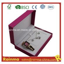 Regalo de reloj con collar y pendientes