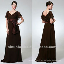 Mantel Chiffon Sweep Zug Bowknot Reich Fluttering Ärmel Mutter des Brautkleid Party Gown
