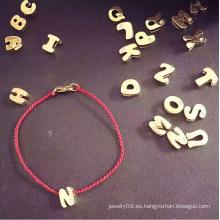 Joyería De Moda Letters Red String Pulsera