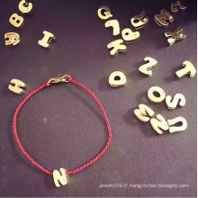 Fashion Jewelry Letters Bracelet à cordes rouges