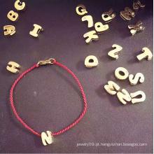 Moda Jóias Letras Red String Pulseira
