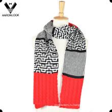 Женская мода Жаккардовые совместное Вязание узор шарф