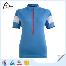 China Factory Jersey Custom Blank Blue Cycling Wear