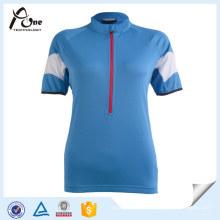 China Factory Jersey Custom Blank Blue Cycling Wear