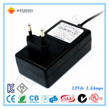 2-pin for Switching Power Adapter 12V 1.5A ac adapter 12v 1.5a 100-240v 50-60hz