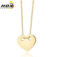 En forma de corazón de acero inoxidable collar de joyería de moda (hdx1101)