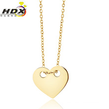 Heart Shaped Stainless Steel Fashion Jewelry Necklace (hdx1101)