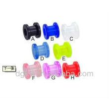 Boucles d'oreilles et tunnels à bijoux colorés en silicone