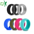 Layer Single Color Silicone Wedding Beste verlovingsring