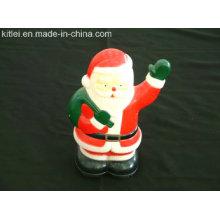 Moldagem de plástico de plástico Santa Figurine para a promoção