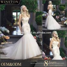 2015 New Design Custom Made sereia mais tamanho casamento vestido