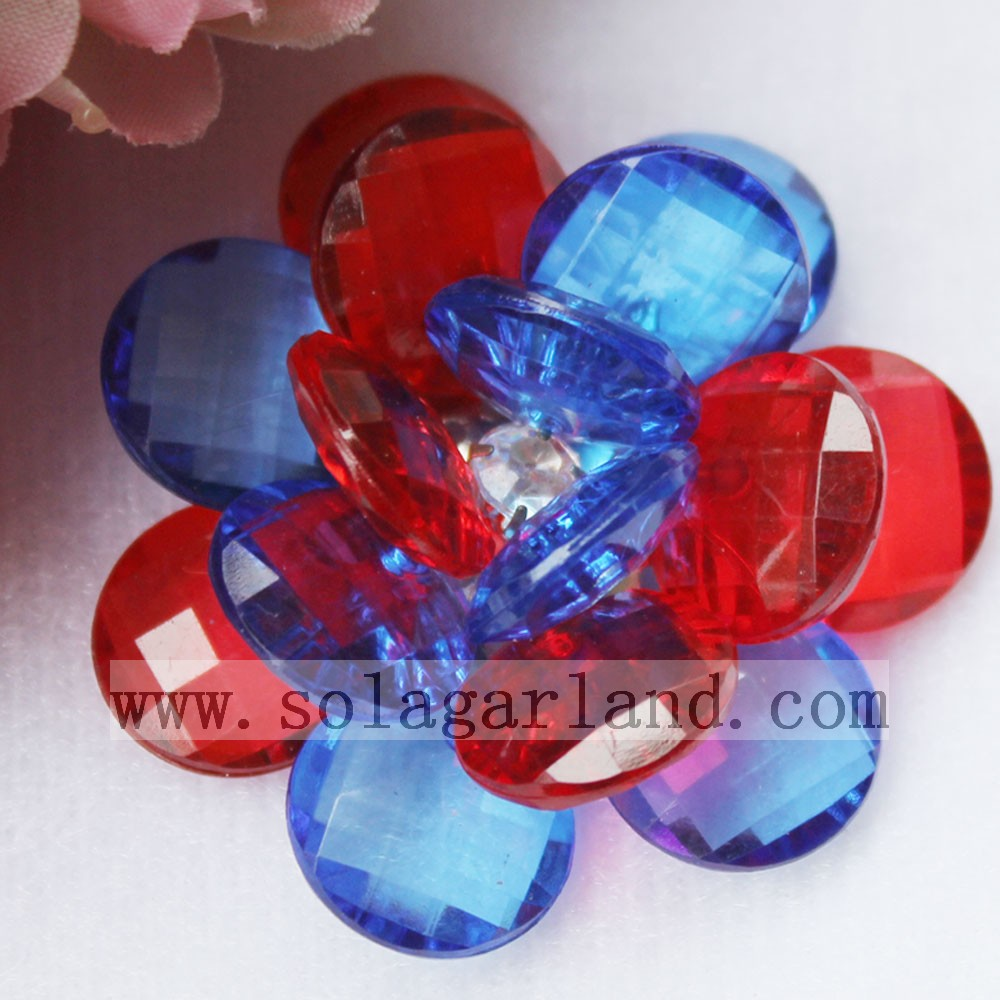 Acrylic Transparent Beading Flowers