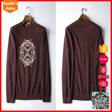 Heiße verkaufende lange Hülsen reine Mens Kaschmir V-Ausschnitt Pullover