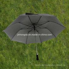 27 pouces noir rabattable 2 EVA Handle Auto parapluie ouvert (YS2F0009-2)