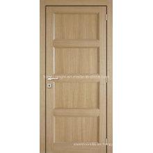 4 paneles de roble blanco estilo tradicional chapa puerta de madera