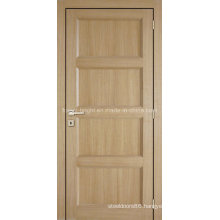 4 Panels White Oak Traditional Style Veneer Wooden Door