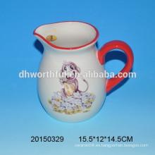 Nueva jarra de agua de jarro de leche de cerámica modelo de mono