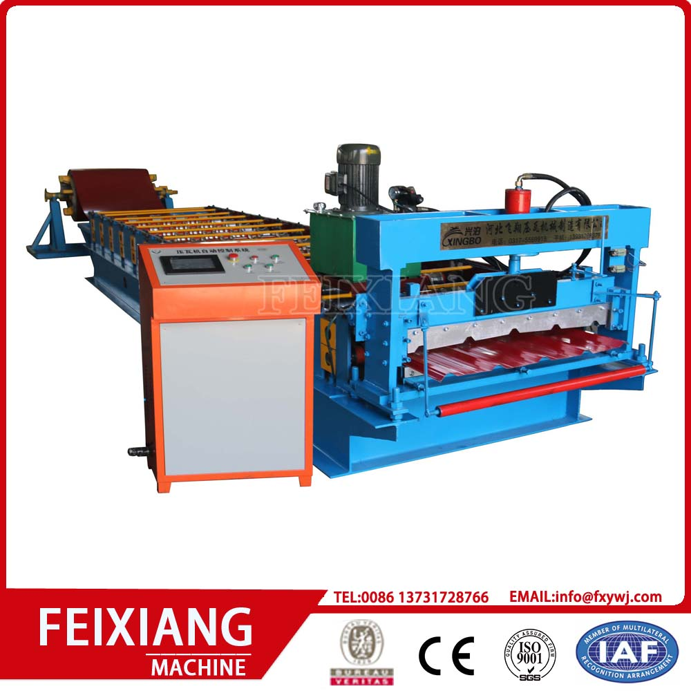 Metal profile roofing roll forming machine