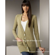 100% cashmere knitted long cardigan