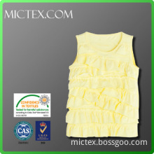 High quality O neck cotton knit vest for girls OEM OEKO-TEX SGS