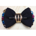 Fashion Bowknot Fabric Shoe Flower with Alloy Buckle Tie Centered