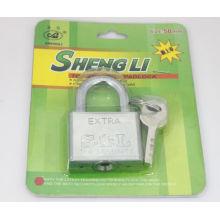 Llavero cuadrado barato del hierro de la fábrica al por mayor con la llave de la paleta