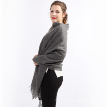 2017 factory direct sale low price fashionable fall and winter charcoal gray cashmere scarf