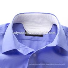 almohadilla para collar de camisa desechable, hecha de tela no tejida, airlaid y PE hoja posterior Cuello almohadilla / colchonetas / collar acolchado