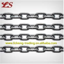 Cadena de enlace corto de acero galvanizado