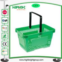Plastik-Supermarkt-Einkaufskörbe mit Griff