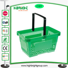 Plastic Supermarket Shopping Baskets with Handle
