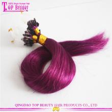 Высокое качество необработанные петли и расширения пряди волос