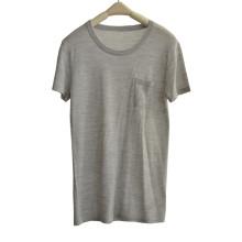 100% en laine Soft Summer à manches courtes en tricot Tricots avec poche