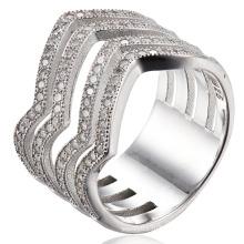 Серебряное кольцо CZ