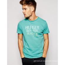T-shirt impresso algodão ocasional do verão da forma 2016 para a promoção