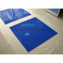 Membrana de Silicone Azul especial para laminador de vidro, folha de borracha de silicone, almofada de borracha de silicone, junta de borracha